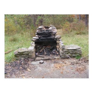 appalachian trail fall pennsylvania camp postcard