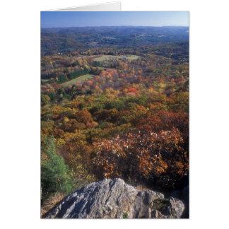 Appalachian Trail Foliage Lions Head Connecticut Greeting Card