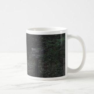 appalachian trail footpath sign dusk coffee mug