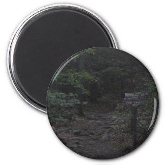 appalachian trail footpath sign dusk 2 inch round magnet