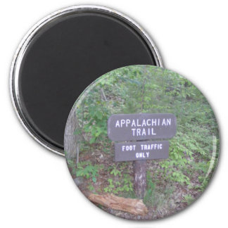appalachian trail footpath sign 2 inch round magnet