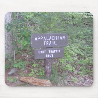 appalachian trail footpath sign mouse pad