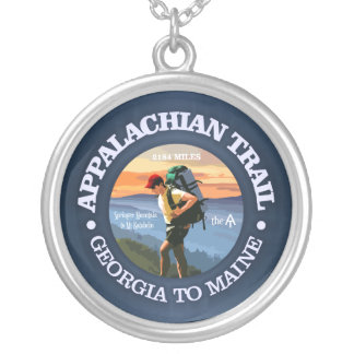 Appalachian Trail (Hiker C) Silver Plated Necklace