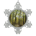 Appalachian Trail in October at Shenandoah Snowflake Pewter Christmas Ornament