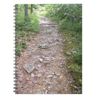 appalachian trail rocky path spiral notebooks