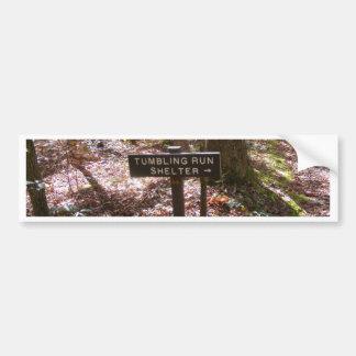 appalachian trail shelter pennsylvania fall bumper sticker
