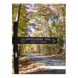 appalachian trail sign pennsylvania fall postcard