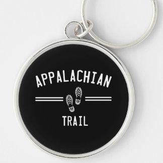 Appalachian Trail Silver-Colored Round Keychain