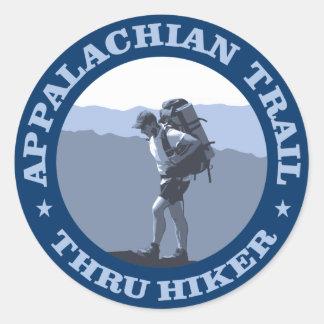 Appalachian Trail -Thru Hiker Classic Round Sticker