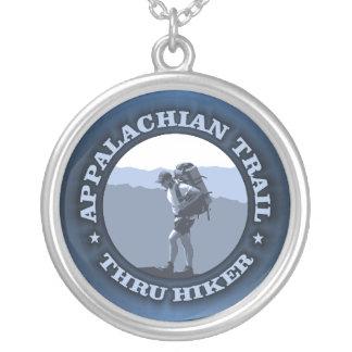 Appalachian Trail -Thru Hiker Round Pendant Necklace