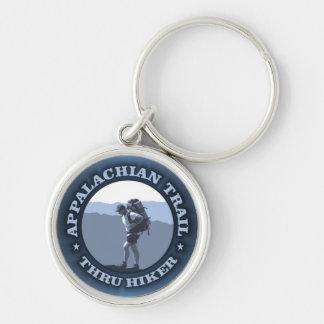 Appalachian Trail -Thru Hiker Silver-Colored Round Keychain