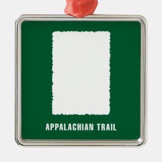 Appalachian Trail White Blaze Metal Ornament