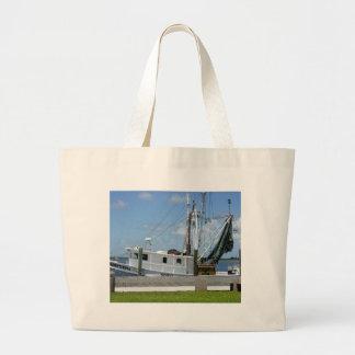 Appalachicola Shrimp Boat Jumbo Tote Bag