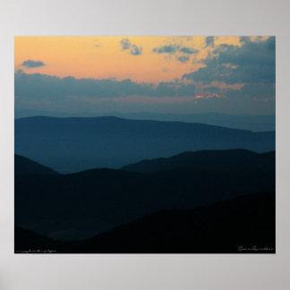 Appalacian Mountain Sunset Poster