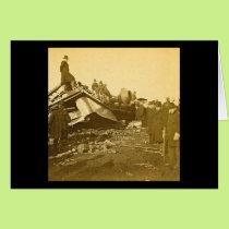 Appalling Accident at Farmington River (Sepia) Card