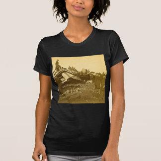 Appalling Accident at Farmington River (Sepia) T-Shirt