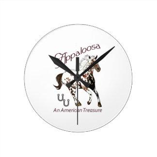 APPALOOSA AMERICAN TREASURE ROUND WALLCLOCKS