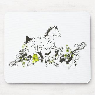 Appaloosa del leopardo con la impresión floral alfombrillas de ratón