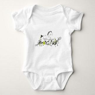 Appaloosa del leopardo con la impresión floral body para bebé