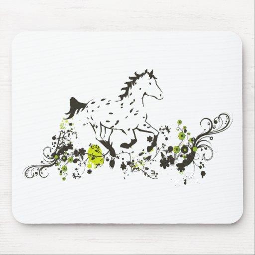 Appaloosa del leopardo con la impresión floral alfombrillas de ratones
