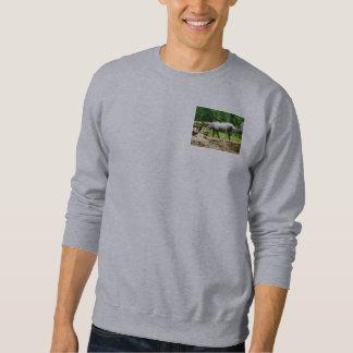 Appaloosa Eating Hay Pull Over Sweatshirt