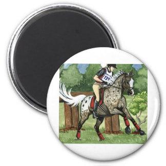 APPALOOSA Eventing del arte del caballo Imán Redondo 5 Cm