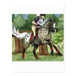 APPALOOSA Eventing del arte del caballo Tarjetas Postales