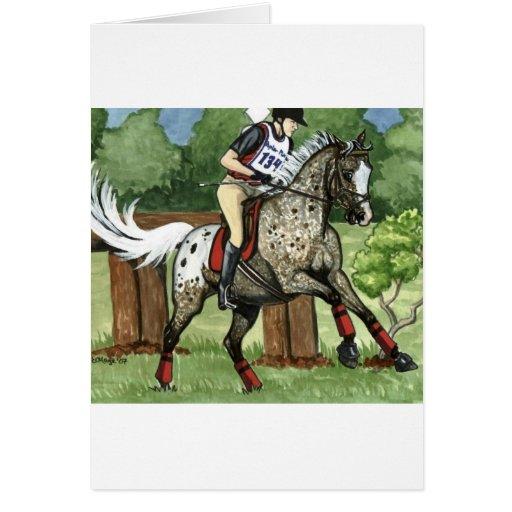 APPALOOSA Eventing del arte del caballo Tarjeton