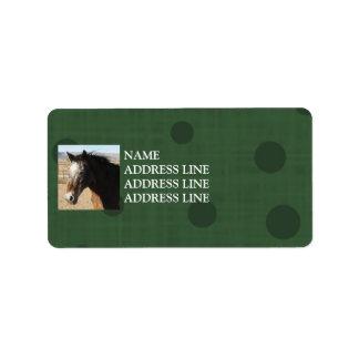 Appaloosa Green Pattern Background - Western Address Label