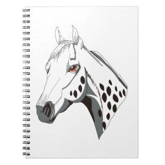 Appaloosa Head Spiral Notebook