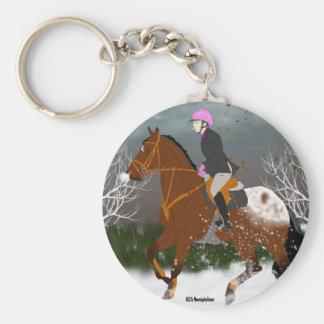 Appaloosa Horse and Rider Keychain