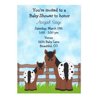 Appaloosa Horse Baby Shower Invitation