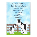 "Appaloosa Horse Baby Shower Invitation 5"" X 7"" Invitation Card"