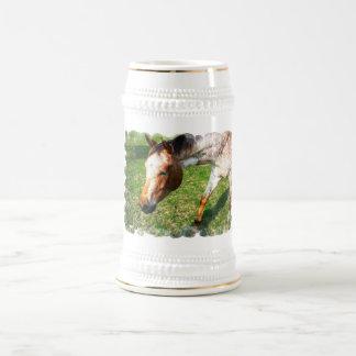 Appaloosa Horse Beer Stein 18 Oz Beer Stein
