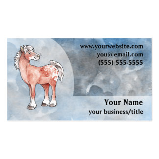 Appaloosa Horse Business Card - Blue and Gray