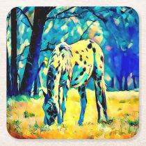 Appaloosa Horse Digital Art Design Coasters