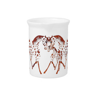 Appaloosa horse lover gifts and apparel beverage pitcher