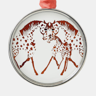 Appaloosa horse lover gifts and apparel metal ornament