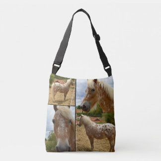 Appaloosa Horse, Photo Collage Crossbody Bag
