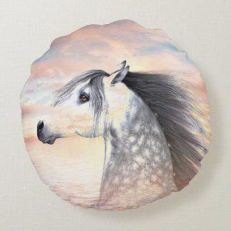 Appaloosa horse round pillow