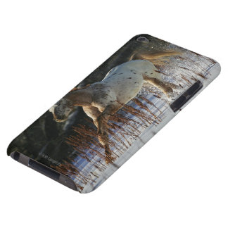 Appaloosa Horse Running in the Snow iPod Touch Case