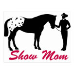 Appaloosa Horse Show Mom Postcard