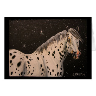 Appaloosa Horse Starry Night Greeting Card