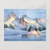 APPALOOSA HORSE TIPI CAMP by SHARON SHARPE Postcard