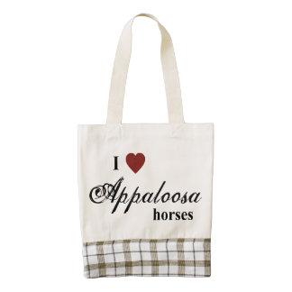 Appaloosa horses zazzle HEART tote bag