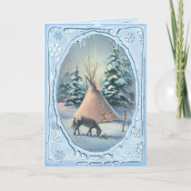 APPALOOSA & ICICLES by SHARON SHARPE Holiday Card