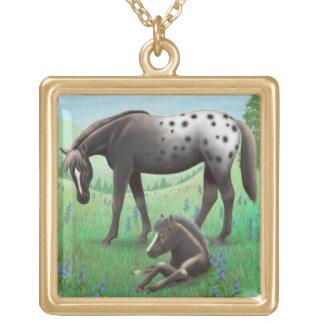 Appaloosa Mare & Foal Necklace