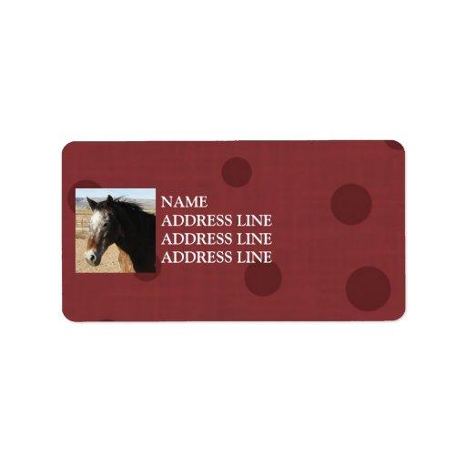 Appaloosa Red Pattern Background - Western Labels