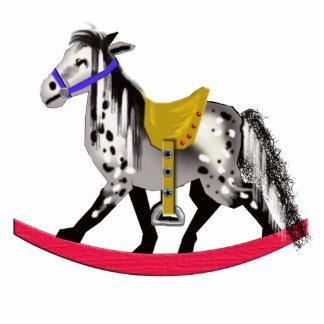 appaloosa rocking horse statuette