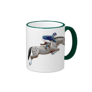 Appaloosa Show Jumping Horse Ringer Mug